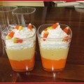 Candy Corn Pudding Treats