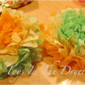 Tissue Paper crafts, crafts, activities, tissue paper flowers