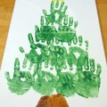 Christmas decor, Christmas decorations, Christmas crafts for kids, handprint Christmas tree