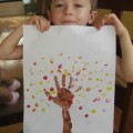 handprint tree, fall tree craft, fall craft for kids
