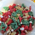 Santa Trail Mix, trail mix, Christmas dessert