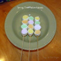 marshmallow kabobs, spring treats, tasty treats