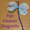pipe cleaner dragonfly