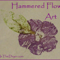 hammered flower art