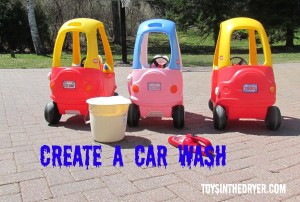 car wash, kids car wash, cozy coupe, little tykes