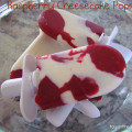 Raspberry Cheesecake Popsicles, popsicle recipes, Zoku