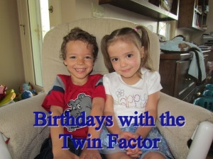 Twin Birthdays, Fraternal Twins, Twins