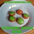 mini caramel apple bites