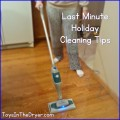 last minute holiday cleaning